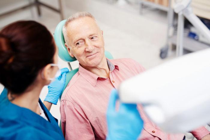 hybrid dentures patient