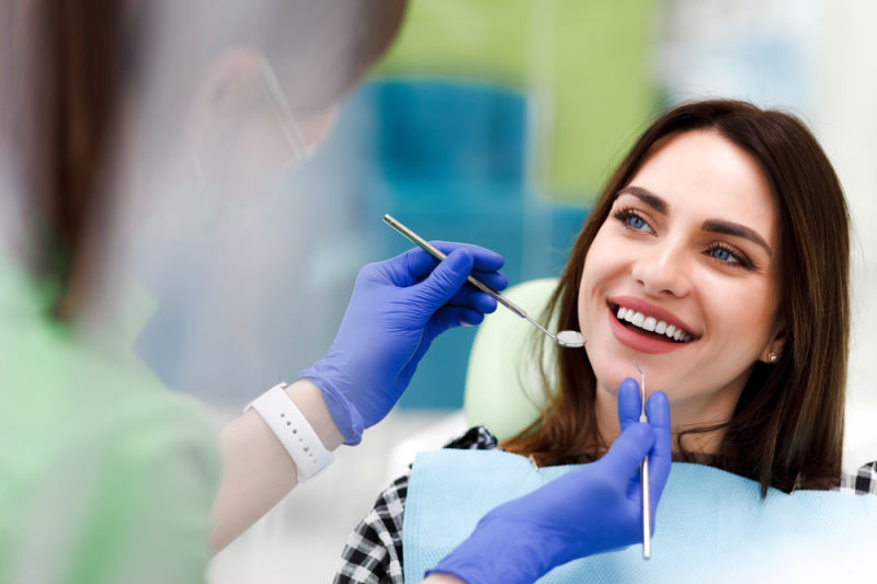 Dentist in Westborough with patient